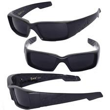 Locs Mens Cholo Biker Sunglasses - Matte Black  LC66