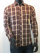 REPLAY Western Shirt Langarm Größe M braun Replay USA Los Angeles NEU UM213