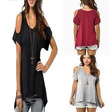 Cotton Blend Crew Neck Plus Size Tops & Shirts for Women