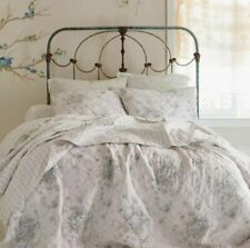 Simply Shabby Chic Shadow Rose Twin Quilt (1) ONLY! Cotton White/Blue Floral