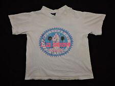 Vtg 80s 90s L.A. Gear Neon Crop Top Half Belly T-shirt Beach LA USA Beach Surf