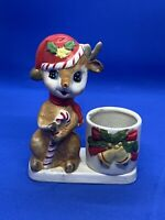 Vintage Reindeer Votive Candle Holder Christmas