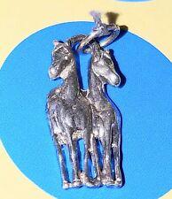 Charm E98 Two Horses Sterling Silver Vintage Bracelet