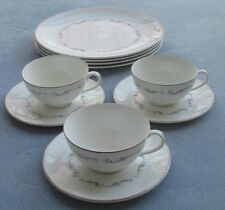 10 Pc  Royal Doulton Coronet Dinner Plates, Cups and Saucer Sets Dinnerware