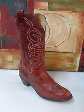 Vintage Texas Western Cowboy Boots-Usa -Brown/Tan 9.5 D