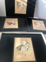 England Vintage SET OF 4 LADY CLARE CELLULOSE PLACEMATS MING POLO 9 M Rare