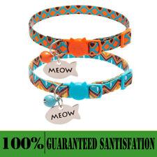 2Pcs Cat Collar With Bells Ethnic Ttribal Style Cat Collar Breakable Adjustable