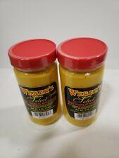 2 Pack of Weber's Select Hot Garlic Mustard Buffalo's Best! (6 oz) Glass