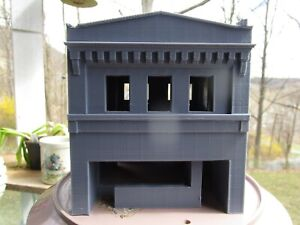 "(1) "" S ""  SCALE  ART DECO BUILDING,  3 D  PRINTED L@@K 1:64  1/64  FACTORY  2nd"