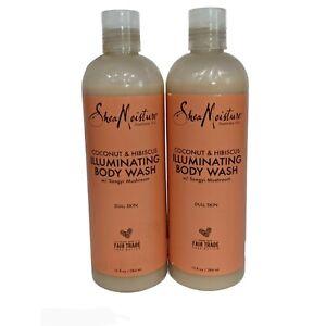 2 Shea Moisture Coconut & Hibiscus Illuminating Body Wash Songyi Mushroom 13 OZ