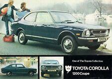 Toyota Corolla 1200 SR Coupe 1973 UK Market Leaflet Sales Brochure