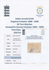 ROBIN SMITH ENGLAND CRICKETER 1988-1996 ORIGINAL HAND SIGNED MAGAZINE CUTTING