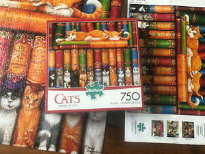 Buffalo Games The Cats of Charles Wyoscki Library Of Cats 750 Piece...