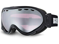 BLOC over glasses SPIRIT 3 OTG Ski Snow Goggles BLACK/ Purple Silver Mirror STW5