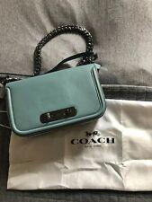 Authentic Coach Leather Blue Handbag Chain Strap BNWT Dustbag Blogger £475