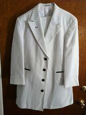 Zoot Suit - white stripes coat / jacket - size 43R , pants 36- 38S  Un-hemmed