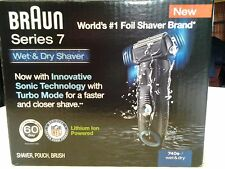 NEW BRAUN Series7 Sonic Technology/Turbo Mode Wet/Dry Electric Shaver 740s-7 NFL