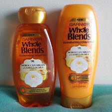 Garnier Whole Blends Moroccan Argan Camellia Oils Shampoo Conditioner Set 12.5oz