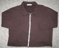 Wild Palms Jacket Coat Brown Solid Women's Woman's Size Small Athletic Cotton