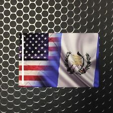 """America USA Guatemala Dual Country Domed Decal Distress Sticker 3D 3.25""""x2"""""""