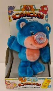 "Playskool 1987 Vintage Nosy Bear ""Chexter"" Inflating Balloon Bright Blue Popped"