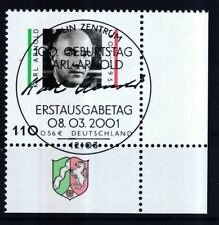 BRD 2001 gestempelt ESST Berlin Eckrand unten rechts MiNr. 2173