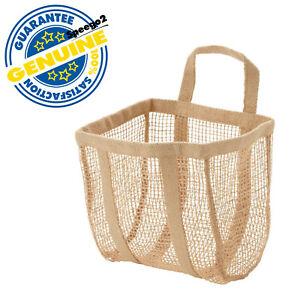 "IKEA LUSTIGKURRE Basket Natural Jute Storage Organizer Hanging 9 ¾x7 ¾x13"" NEW"