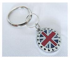 Union Jack Key ring, London Keyring, Metal Key Ring.  REDUCED TO CLEAR