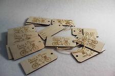 Wedding Label Tag Personalized Luggage Wooden Custom  Bespoke Travel SET OF 2