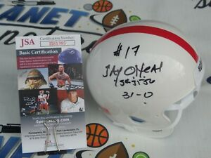 Jay O'Neal signed Oklahoma OU Sooners mini helmet w/ National Champs 31-0 JSACOA