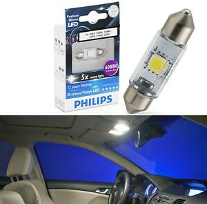 Philips X-Treme Vision LED Light 6418 White 6000K One Bulb Dome Replacement OE