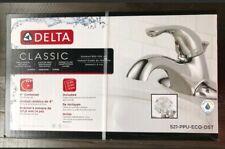 "521-PPU-ECO-DST Delta Classic Chrome 4"" Centerset Bathroom Faucet + Acrylic Knob"