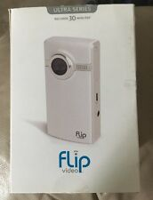 Flip Video Ultra Series 30 Minutes White/Silver Camcorder 1GB