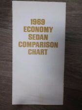 Original Vintage 1969 Economy Sedan Comparison Chart produced by Datsun