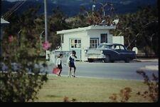 Org Photo Slide 1960's Vietnam war military Base soldier american USA Car street