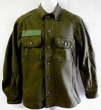 NEW UNISSUED U.S. ARMY OLIVE GREEN WOOL COLD WEATHER FIELD SHIRT (SMALL)
