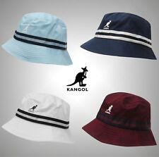 Mens Kangol Logo Stripe Bucket Hat Cotton Headwear Sizes S M L XL