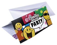 Amscan - 6 Cartes d'invitation et Enveloppes Smiley Comic