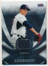 Tyler Anderson 2010 Bowman Sterling Rc Rookie Usa Baseball Relic Jersey Sp C1