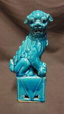 "Belle chinois 7.5"" bleu turquoise-Foo-Chien-Lion figurine statue"
