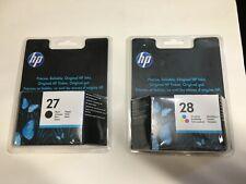 2 original HP Tintenpatronen 27 Black C8727AE 28 Color C8728AE 07/2014 Rechnung
