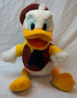 "VINTAGE Walt Disney Parks DONALD DUCK in VEST & TIE 11"" Plush Stuffed Animal Toy"