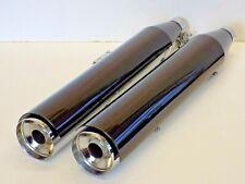 Harley Davidson 64900460 Chrome & Black Exhaust Blunt Silencer Muffler Original