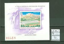 MTA1159 Romania 1979 MNH s/s Olympic Sport Stadium CV 40 eur