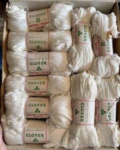 Vtg Lot 10 Skeins Knitting & Crocheting Yarn Cotton American Thread Co NOS