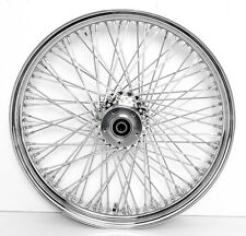 "21""x3.5"" CHROME ABS FRONT WHEEL HARLEY ROAD GLIDE DUAL DISC 25MM DRESSER FLH"