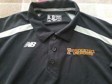 Princeton Lacrosse New Balance Nb Dry Men'S Xl Drifit Polo Shirt Black Golf