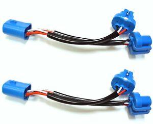 Splitter Wire P 9007 HB5 Two Harness Head Light Female Socket High Heat Plug OE