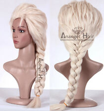 Princess Snow Queen Elsa Wig Synthetic Blonde Adults Long Synthetic Hair Wigs