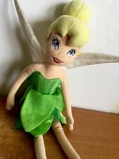"Disney Store Tinker Bell Soft Doll 21"" Stuffed Fairy Green Dress Wings Exclusive"